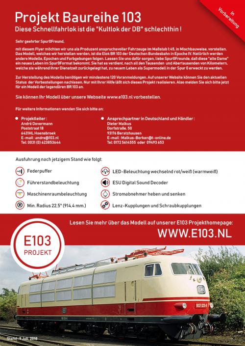 E103 Projekt Flyer